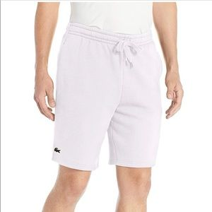 New With Tags White Fleece Lacost Sport Shorts 3XL